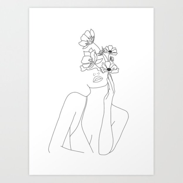 minimal-line-art-woman-with-flowers-prints (1)